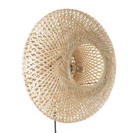 Wandleuchte aus geflochtenem Bambus