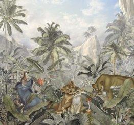 Komar Disney Vlies Fototapete Lion King Mountains | Größe: 300 x 280 cm