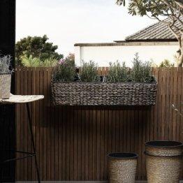Blumenampel Ewers aus Rattan Sansibar Home Farbe: Braun