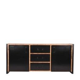 Industry Design Sideboard aus Mangobaum Massivholz und Metall 190 cm breit