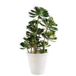 Künstliche Gartenpflanze im Topf