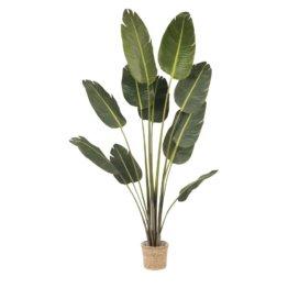 Künstliche Pflanze im Geflechtübertopf