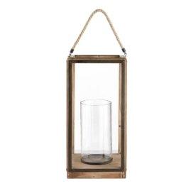 Laterne aus Glas und Tannenholz