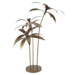 Piantana palme in metallo dorata scura, h 158 cm