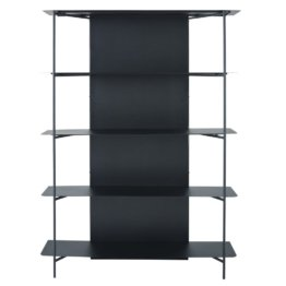 Regal aus schwarzem Metall Kirimbi