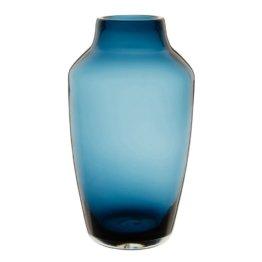 Vase aus blau getöntem Glas H29