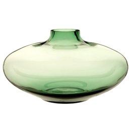 Vase aus grün getöntem Glas H33