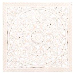 Wanddeko geschnitzt, weiß 40x40