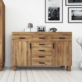 Wohnzimmer Sideboard aus Wildeiche Massivholz modern