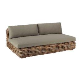 3-Sitzer Gartensofa aus Rattan St Tropez