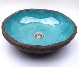 Ein Einzigartiges Waschbecken - Eine Blaue Lagune. Ungewöhnliches, Originelles Becken