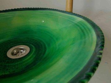 Flaches Waschbecken/Limette Ø 42 cm H 10