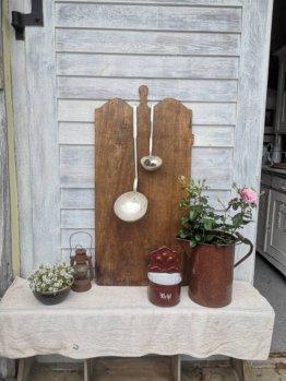 Holzbrett Brett Schlachtebrett Kuchenbrett Vintage Shabby Landhausstil