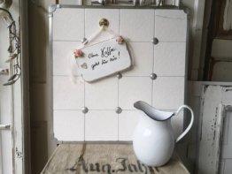 Kachenwand, Fliesen Wand, Vintage, Shabby Chic, Landhausstil, Brocante, Cottage