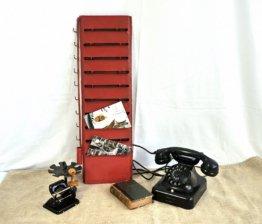 Kartenhalter, Post Box, Zettel Wandhalterung, Wandregal, Metallregal - Industrie Design