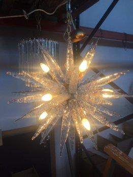 Kronleuchter Sputnik Glas Wandtyp Mazzega Venini Barovier Von Italianlightdesign