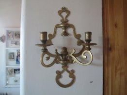 Messing Zwei Arme Wandblaker Wandkerzenhalter Wandkerzenleuchter Romantik Shabby Chic Landhaus Kerzenhalter Kandelaber Antik-stil