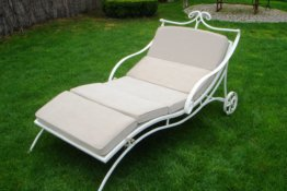 Outdoor-Möbel Chaise Lounge Chair Strandhaus Gartenmöbel Schmiedeeisen Bett Patio Möbel Beach Stuhl