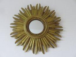 Spiegel Goldene Sonne Wand Mid Century 1970 70 Es Old Vintage Französisch Sunburst Gold Mirror