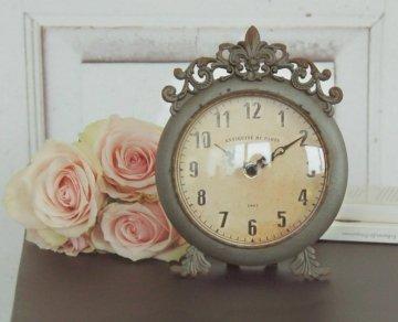 Uhr Ella Im Antique Shabby Chic Landhaus, Weiße Tischuhr Wecker