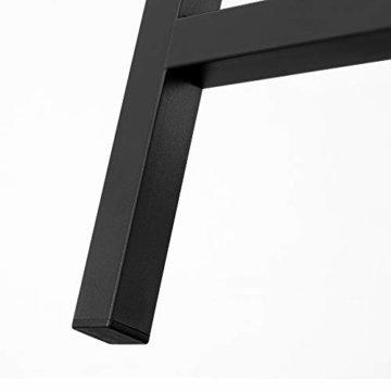 VASAGLE Barhocker 2er Set, Barstühle, Küchenstühle im Industrie-Design, mit Fußstütze, für Küche, Wohnzimmer, Partykeller, Vintage, Dunkelbraun LBC65X -