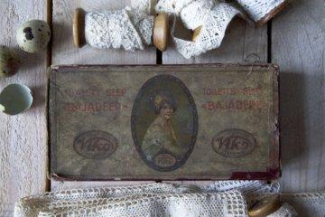 Vintage-Box Mit Deckel, Karton Seifenkiste, Rezept-Box, Schätze-Box, Shabby Chic Box, Andenken Lagerung, Sammlerstück, Vintage Zubehör