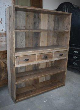 Vintage Holz Schrank/Ladenschrank Bücherschrank Aktenschrank