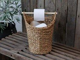Chic Antique Toilettenpapierhalter Rattankorb Klopapier Korbhalter WC Rollenhalter