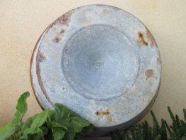 Antike Oversize Rusty Zink Becken Schale Bauernhaus Dekor Washbowl Land Chic Industrielle Spüle Shabby Chic Rustikale Küche Topf Kabine