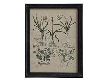 Chic Antique Bild mit Wiesenblumen Blumen Rahmen schwarz 33×43 cm -