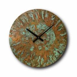 Große Patina-Kupferuhr, Wanduhr, Wohndekoration, Original-Uhr, Handgemachte, Design-Uhr, Rustikale Uhr, Uhren