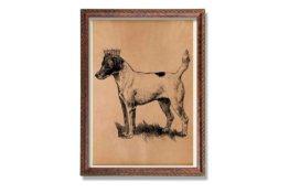König Hund Druck Tier Dekoration Vintage Poster Geschenk Für Sie