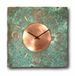 Kupfer, Wanduhr, Wohnkultur, Original Uhr, Handgefertigte Innenarchitektur, Rustikale Interior Design Uhr