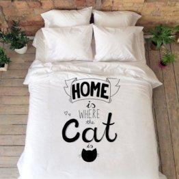 Miau Katze Bettwäsche Set Königin König Full Double Bettdecke Abdeckung Kitty Cat Liebhaber Geschenke Hochzeitstag Geschenk Housewarming Baumwolle