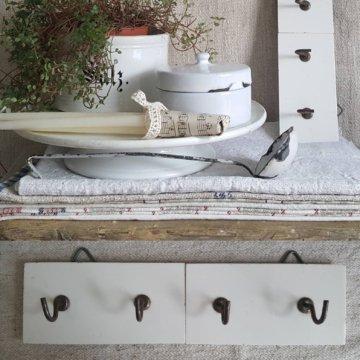 Rar Antike Garderobegeschirrtuch & Handtuchhalter...shabbybrocantefrench Antiquesbrocanteantique Farmhouse Decoantique Kitchen Deco