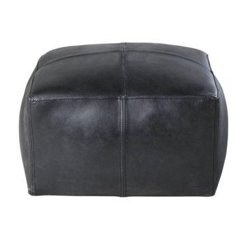 Sitzsack aus Büffelleder, schwarz