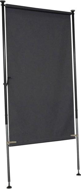 Balkon Sichtschutz Style anthrazit, 120 cm breit ohne bohren