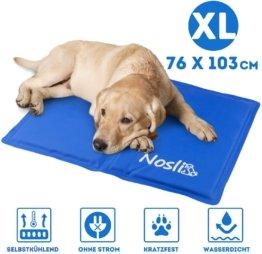 Kühlmatte für Hunde und Katzen - Idealer Schutz bei Hitze für Haustiere - Kältematte Selbstkühlend 76x103