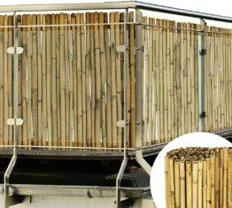 Bambus Sichtschutz 100x250cm (HxB) Sol Vision B38 Premium Bambusmatte Zaun Natur Sichtschutzmatte für Balkon Garten Terrasse