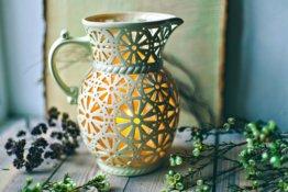 Outdoor Dekor Keramik Kerze Laterne Herzstück Home Decor Beleuchtung Feine Patio Boho Jahrestagsgeschenk Mann Ihr