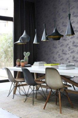 Tapete Toile de Jouy Grau und Blau  von Origin - luxury wallcoverings