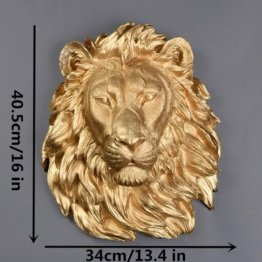 Wand Löwenkopf Skulptur