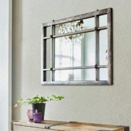 Spiegel Somero, Eisen, Spiegelglas, H/B/T ca. 45/60 / 3 cm, antikschwarz
