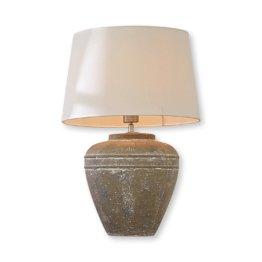 LOBERON Tischlampe Alhissla, weiß/grau (58cm)