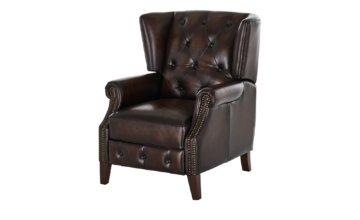 uno Relaxsessel aus Leder  Chesterfield ¦ braun Polstermöbel > Sessel > Fernsehsessel - Höffner
