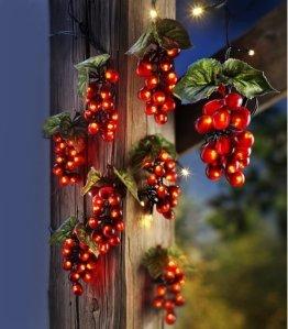 Weltbild LED Trauben Lichterkette mit Strom Stecker - Lichterkette als Lichterkette Outdoor Lichterkette Innen Lichterkette Kinderzimmer Balkon Lichterkette Wand Dekoration als Lichterkette Sommer